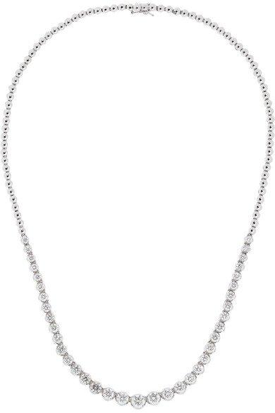 Amrapali | 18-karat white gold diamond necklace | NET-A-PORTER.COM