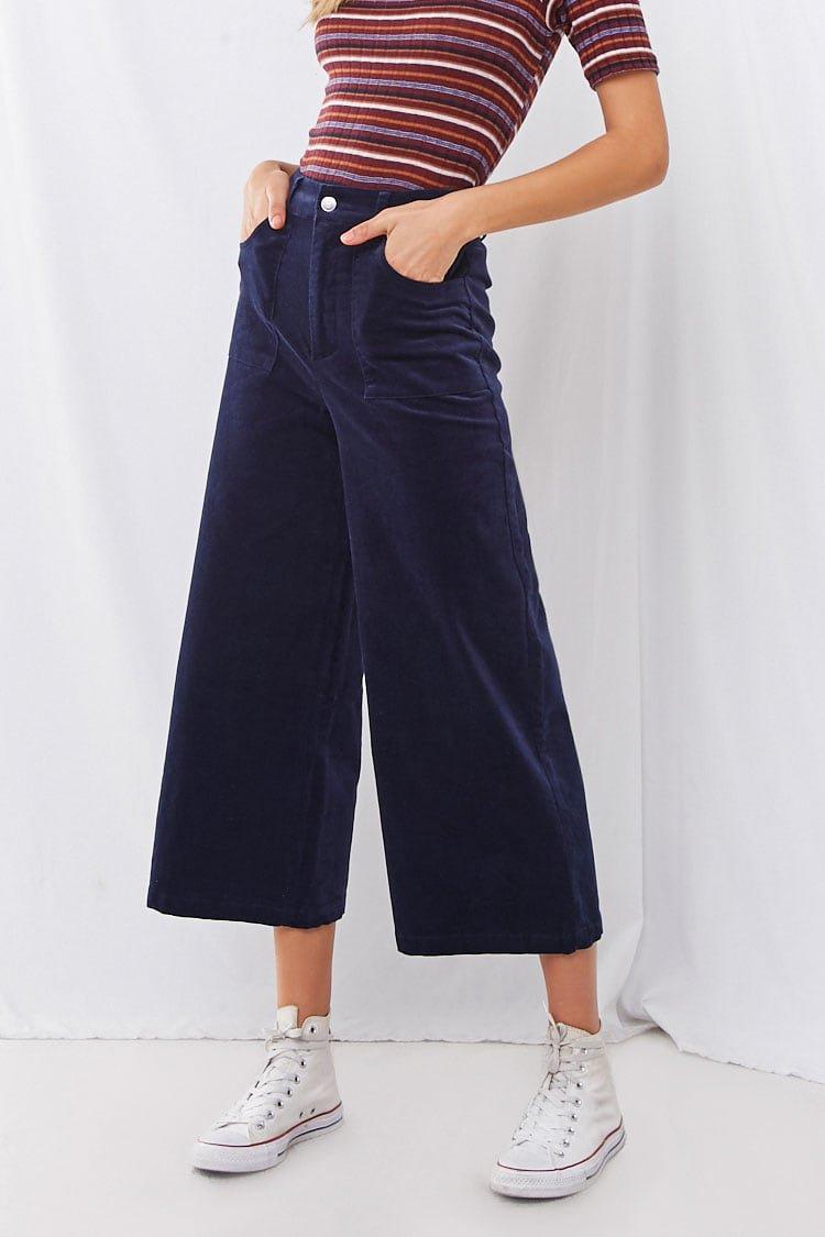 Corduroy Wide-Leg Pants