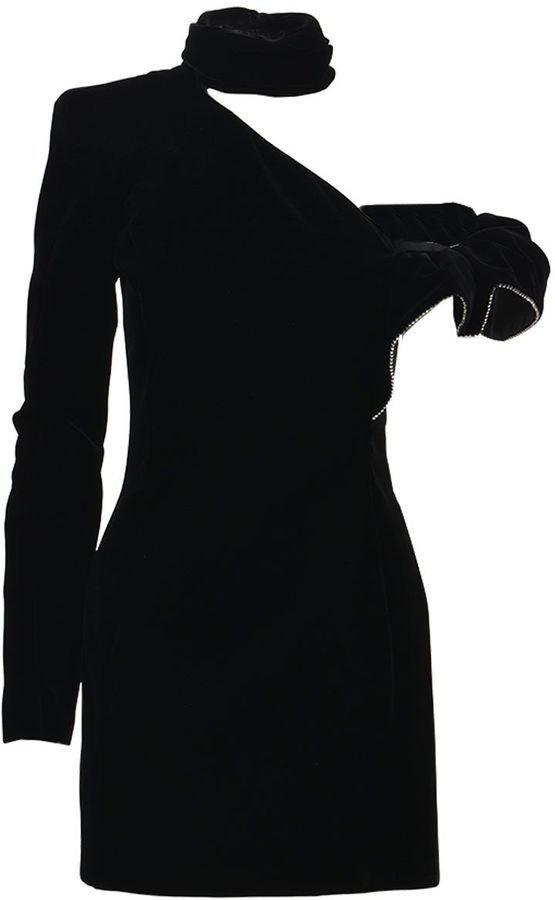 Saint Laurent Mini Frill Dress