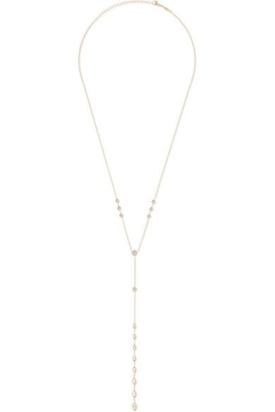 Jacquie Aiche | 14-karat gold diamond necklace | NET-A-PORTER.COM