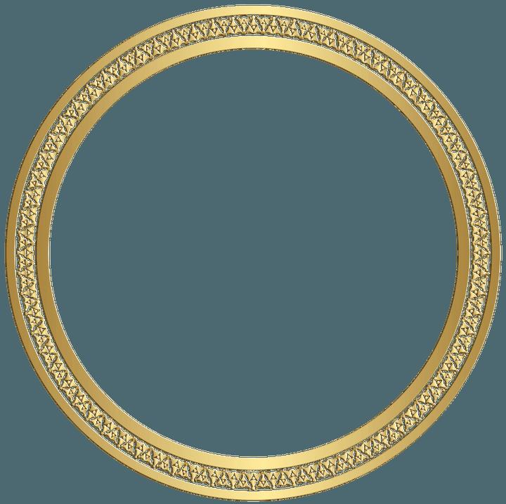 Circle Frame (Gold) png