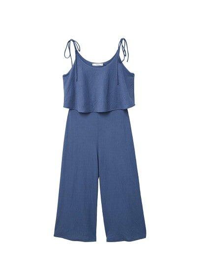 MANGO Sleeveless bow jumpsuit