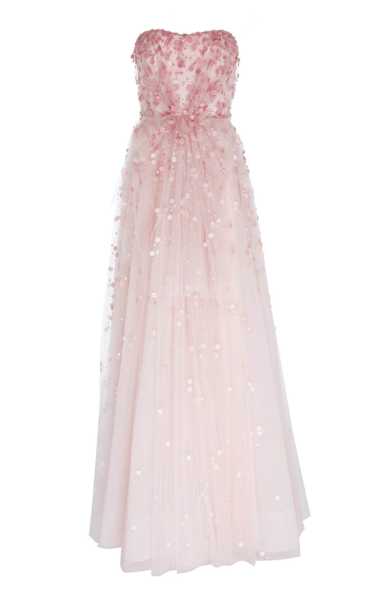Jenny Packham Rosalita Embroidered Tulle Gown