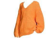 Orange oversized sweater Polyvore