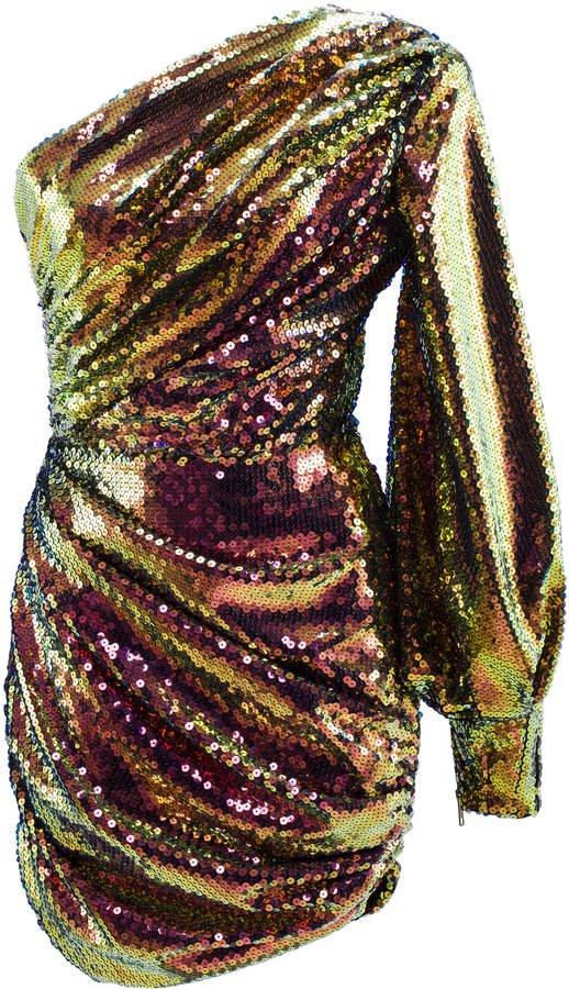 Jackson Sequin-Embellished Cady Mini Dress