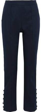 Oboe Button-detailed Cotton-blend Twill Slim-leg Pants