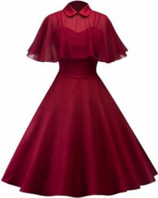 50s Womens Vintage Rockabilly Pinup Strap Swing Evening Party Dress with CloakGender: WomenStyle: Vintage Dress,Evening Dress,Prom Dress,Homecoming Dress,Bridesmaid Dress Pattern Type: SolidSleeve...