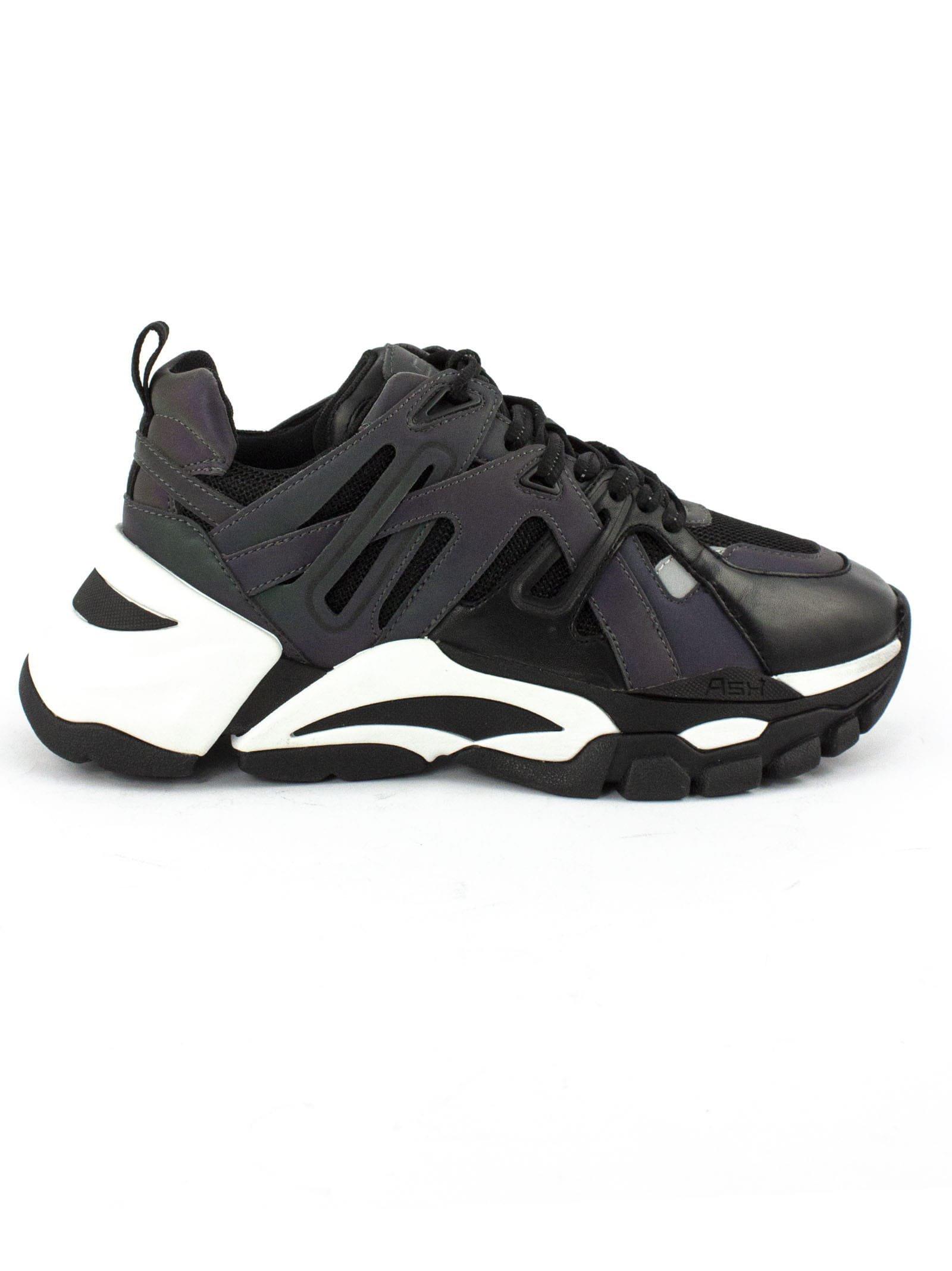 Ash Black Leather Flash Sneaker