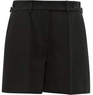 Tailored Crepe Shorts - Womens - Black