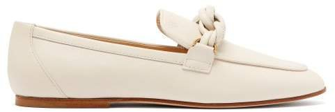 Knotted Leather Loafers - Womens - White