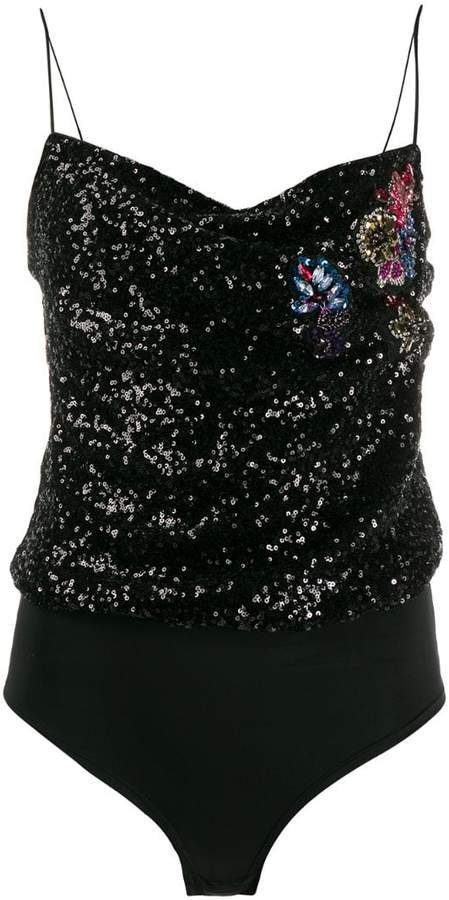 sequin embroidered tank top