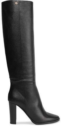 Haywood Textured-leather Knee Boots