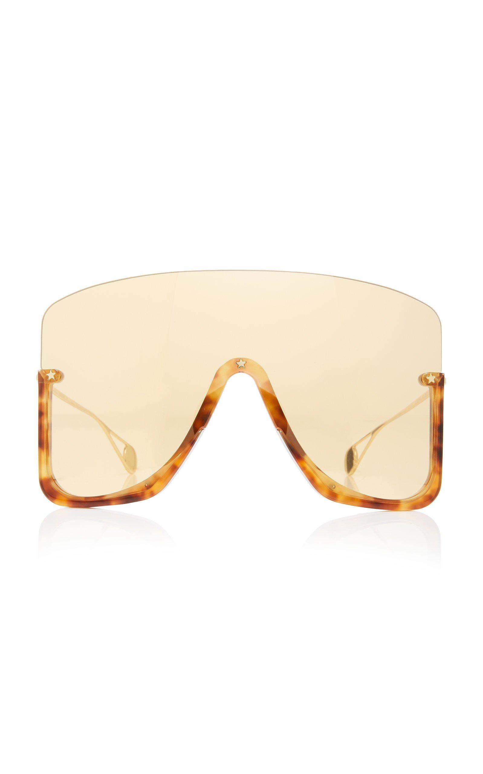 Oversized Acetate Shield Sunglasses by Gucci Sunglasses | Moda Operandi