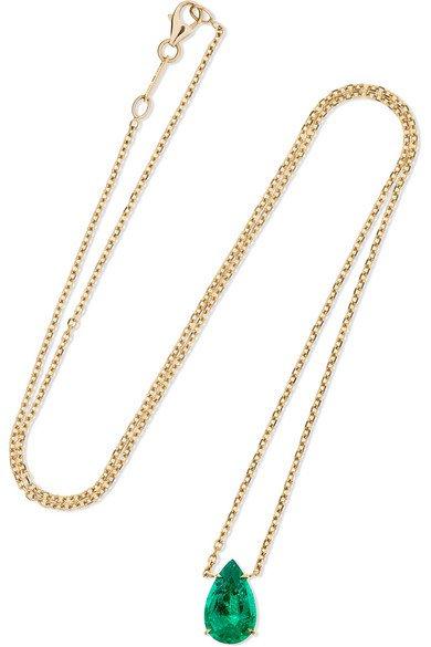 Anita Ko | 18-karat gold emerald necklace | NET-A-PORTER.COM