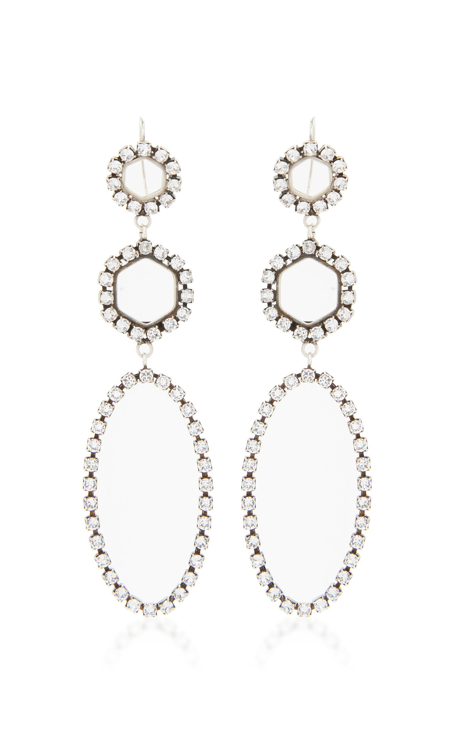 Silver-Tone Swarovski Crystal Earrings by Isabel Marant | Moda Operandi
