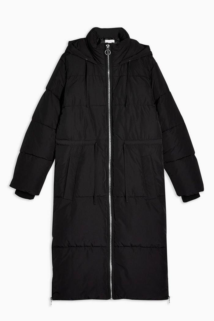 Black Longline Puffer Jacket | Topshop black