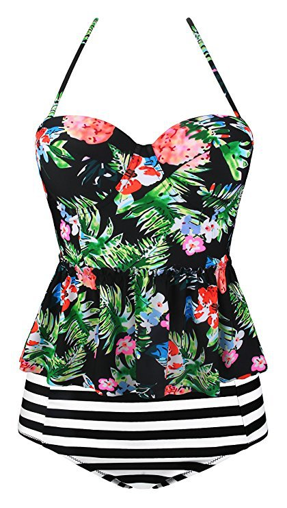 Amazon.com: Swiland Women Plus Size Swimwear Tankini for Girls Swimsuit Tops Swimsuits for Women Bikini: Clothing
