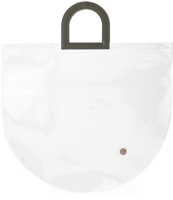 Stencil in Clear PVC tote bag