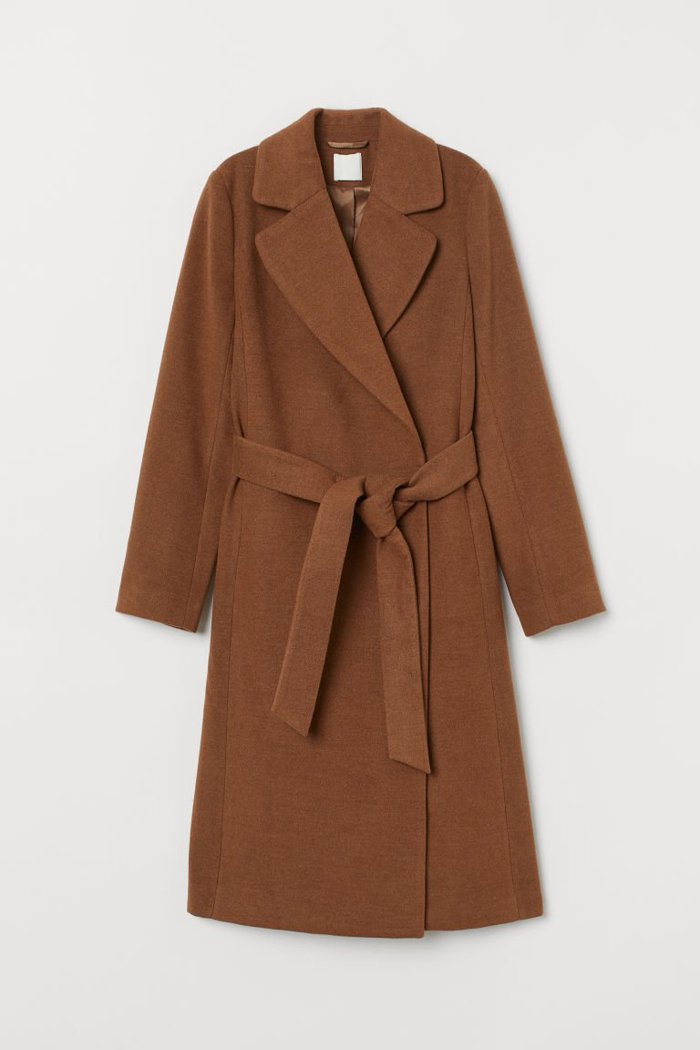 Coat with Tie Belt - Light brown - Ladies | H&M US