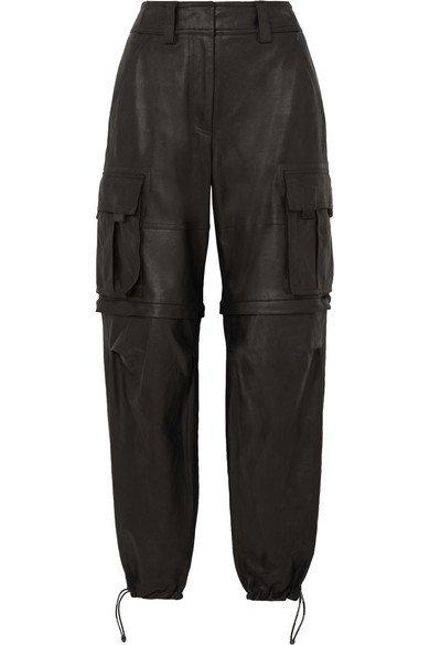 Alexander Wang | Convertible leather cargo pants | NET-A-PORTER.COM