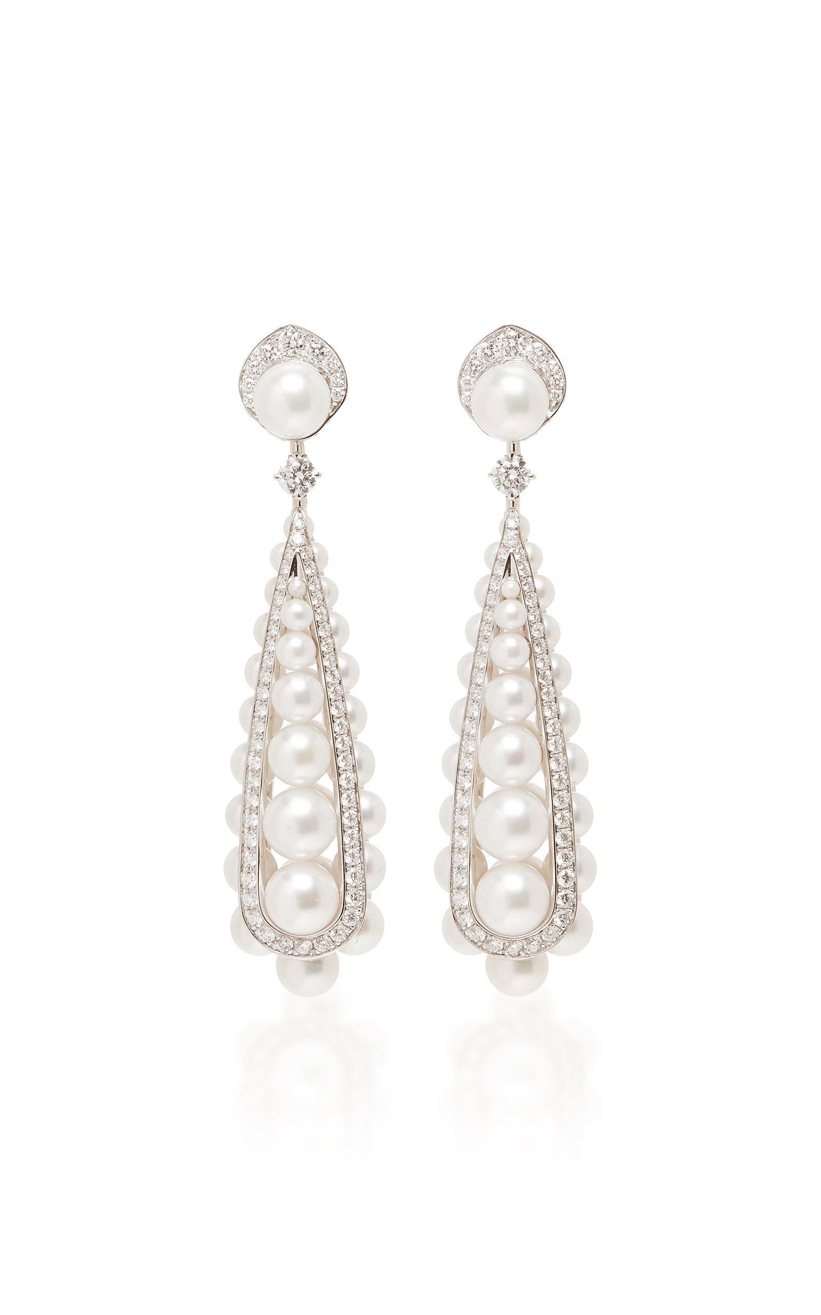 David Morris Pearl Rose Earrings