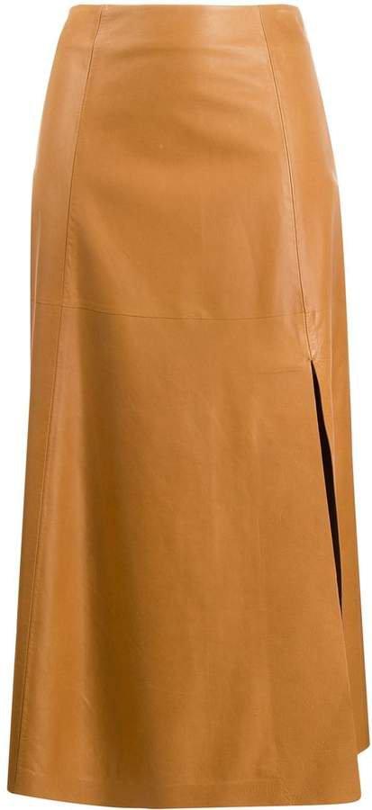 side slit A-line skirt