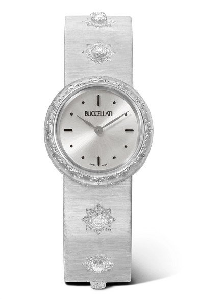 Buccellati | Macri 24mm 18-karat white gold and diamond watch | NET-A-PORTER.COM