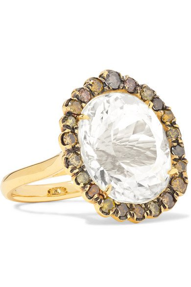 Kimberly McDonald | 18-karat gold, spodumene and diamond ring | NET-A-PORTER.COM