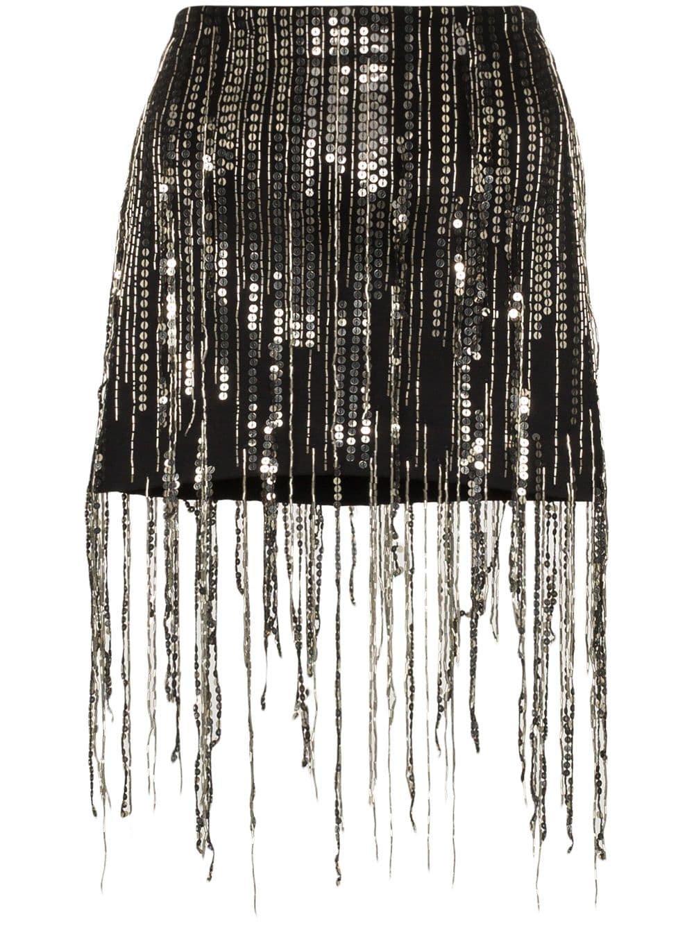 Faith Connexion Sequin Fringed Mini Skirt   Farfetch.com