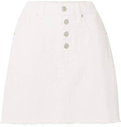 Denim Mini Skirt - White