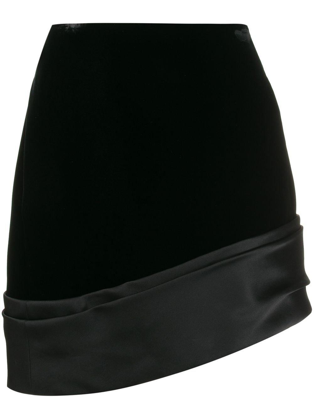 Saint Laurent Asymmetric Mini Skirt | Farfetch.com