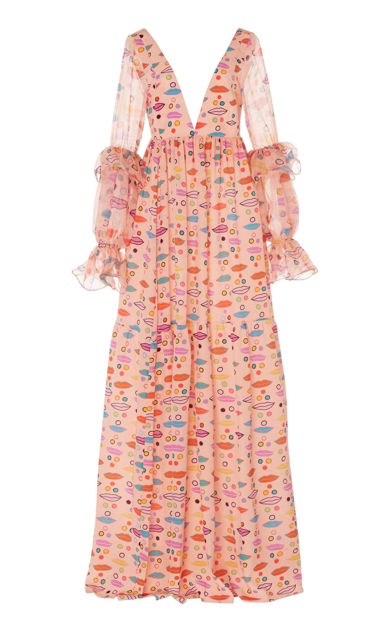 Leal Daccarett Lipari Crepe De Chine Dress Size: 4