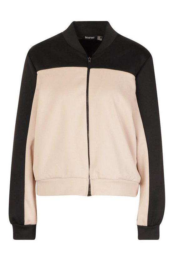 Colourblock Bomber Jacket | Boohoo