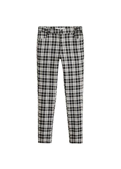 MANGO Check slim-fit trousers