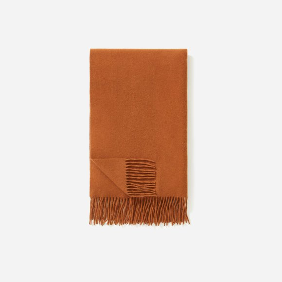 Women's Wool-Cashmere Blanket Scarf | Everlane brown