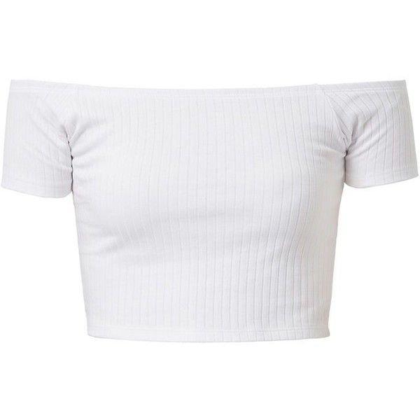 White Off-The-Shoulder Crop-Top