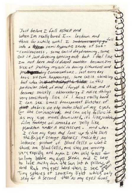 scribbled notebook