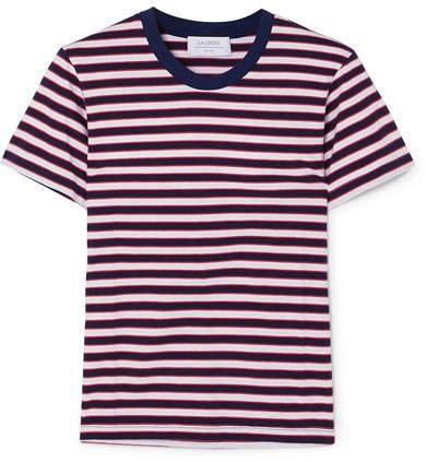 La Ligne - Seberg Striped Cotton-jersey T-shirt - Navy