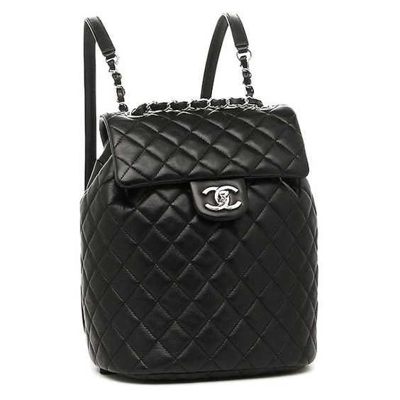 Chanel lambskin silver metal rucksack