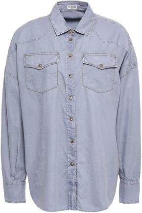 Oversized Bead-embellished Cotton Shirt