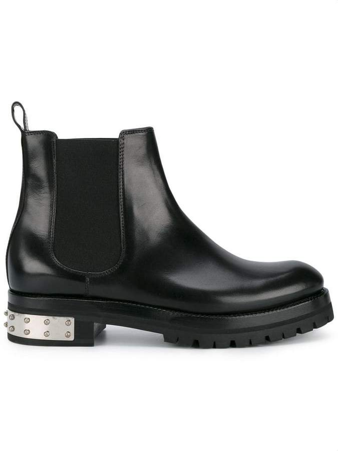 Black Mod Leather Ankle boots