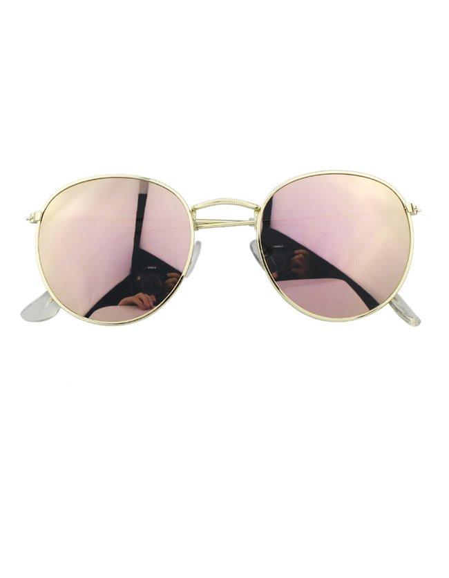 Pink Round Oversized Sunglasses