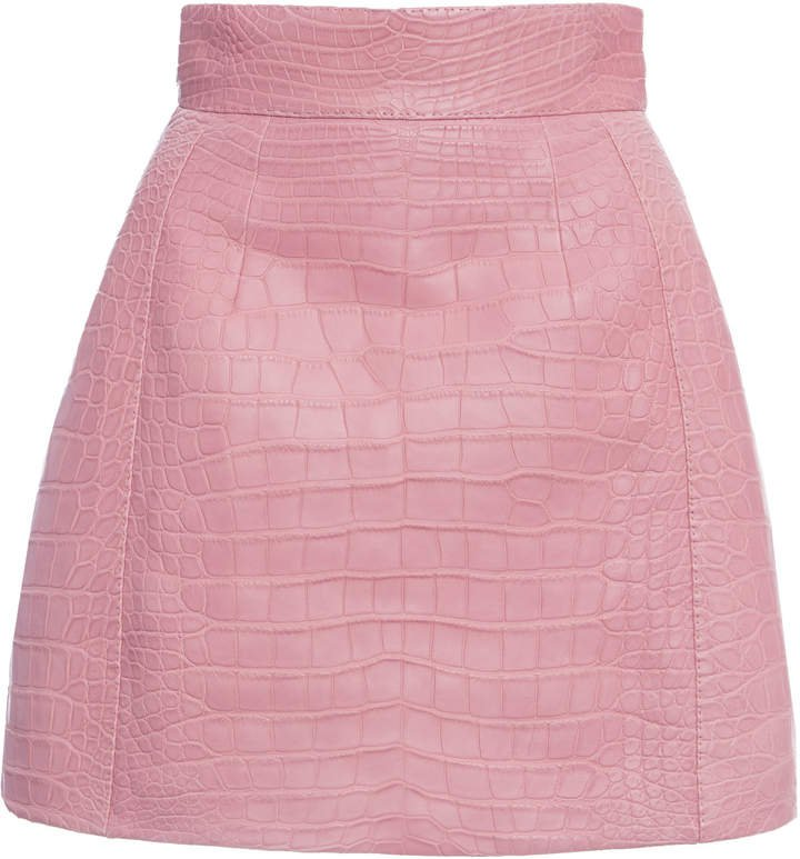Dolce & Gabbana Crocodile Mini Skirt Size: 36