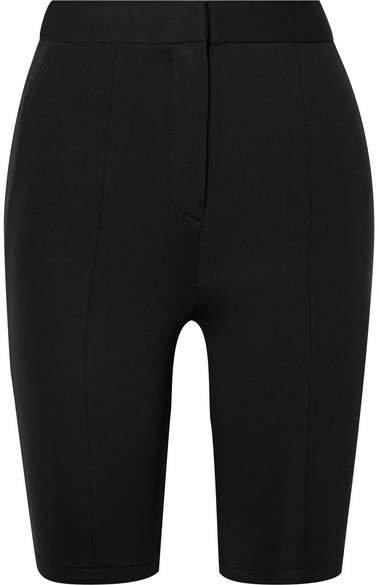 Stretch-woven Shorts - Black