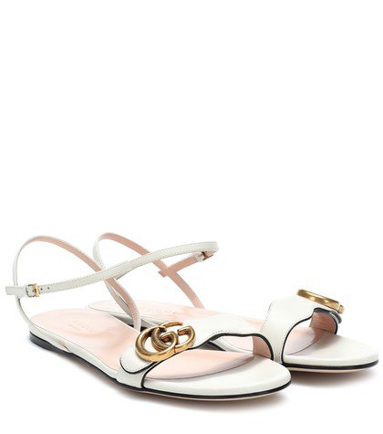 Double G leather sandals