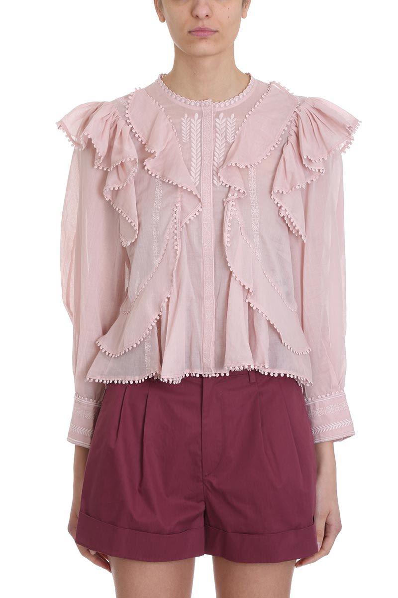 Isabel Marant Étoile Alea Pink Cotton Blouse
