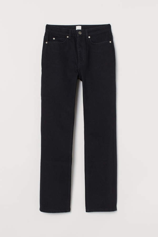 Straight High Jeans - Black
