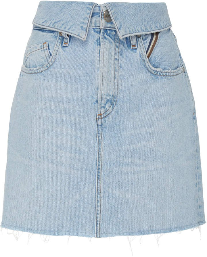 Jean Flip High-Rise Denim Mini Skirt
