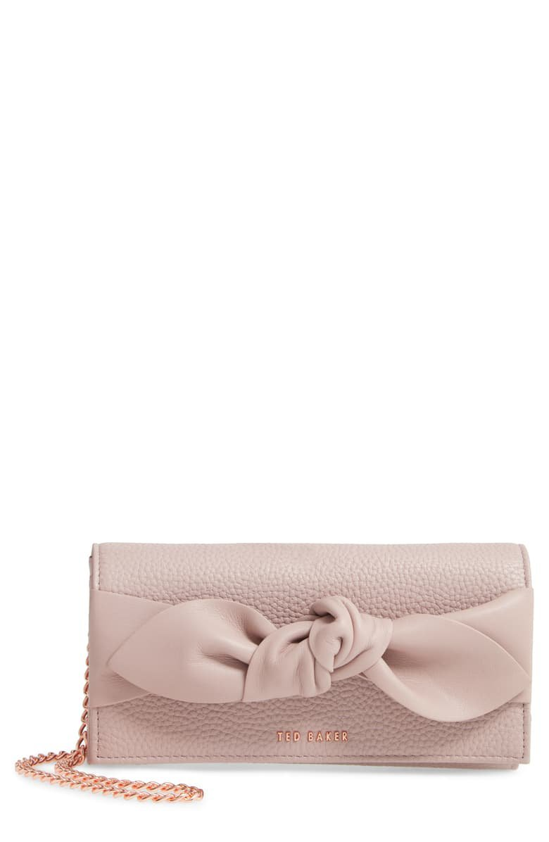 Ted Baker London Knotted Bow Leather Wallet on a Chain | Nordstrom