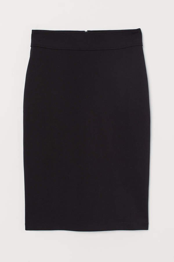 Jersey Pencil Skirt - Black